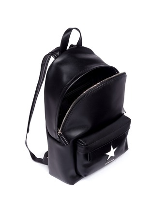 Detail View - Click To Enlarge - Givenchy - Small star appliqué leather backpack