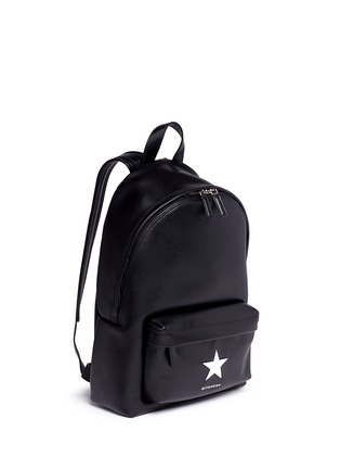 Front View - Click To Enlarge - Givenchy - Small star appliqué leather backpack