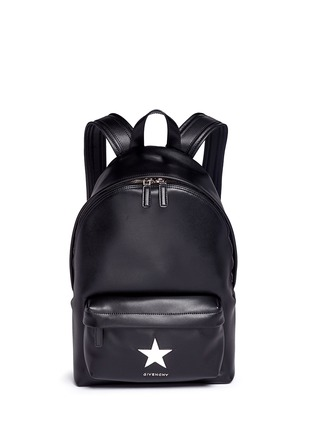 Main View - Click To Enlarge - Givenchy - Small star appliqué leather backpack
