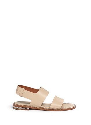 Main View - Click To Enlarge - Givenchy - 'D Chain' leather slingback sandals