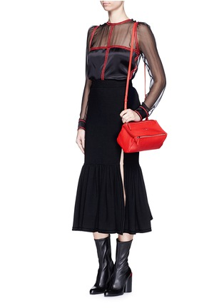 Figure View - Click To Enlarge - Givenchy - 'Pandora' mini leather bag