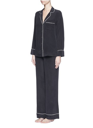 Figure View - Click To Enlarge - Equipment - 'Avery' silk pyjama set
