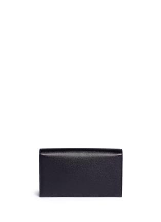 Back View - Click To Enlarge - SAINT LAURENT - 'Monogram' grainy leather flap clutch