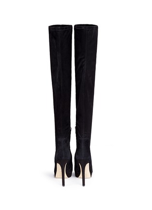 Back View - Click To Enlarge - SAM EDELMAN - 'Amber' stretch suede thigh high boots