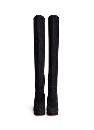 Figure View - Click To Enlarge - SAM EDELMAN - 'Amber' stretch suede thigh high boots