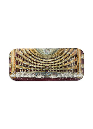 Main View - Click To Enlarge - FORNASETTI - Scala Col print wood tray