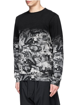 Front View - Click To Enlarge - Marcelo Burlon - Snake print cotton terry sweatshirt
