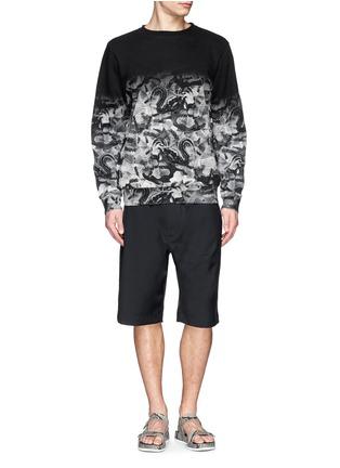 Figure View - Click To Enlarge - MARCELO BURLON - Snake print cotton terry sweatshirt