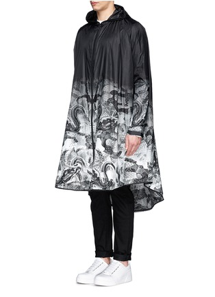 Front View - Click To Enlarge - Marcelo Burlon - 'Camu' snake print nylon poncho