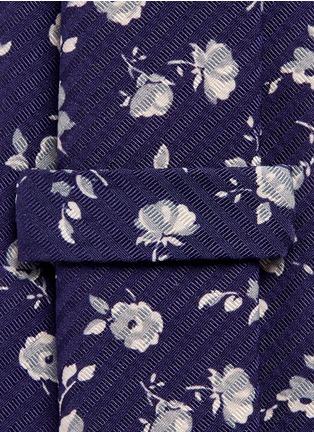 Detail View - Click To Enlarge - LARDINI - Floral print stripe jacquard tie