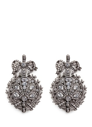 Main View - Click To Enlarge - Anabela Chan - 'Mirage' diamond 18k black gold plated silver drop earrings