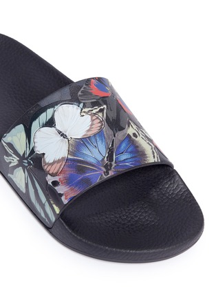 Detail View - Click To Enlarge - Valentino - 'Camubutterfly' print slide sandals