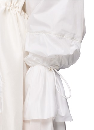 Detail View - Click To Enlarge - 3.1 Phillip Lim - Ruffle sleeve long silk anorak