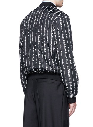 Back View - Click To Enlarge - ALEXANDER MCQUEEN - Barb wire print bomber jacket