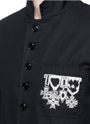 Detail View - Click To Enlarge - Alexander McQueen - Medallion embroidery uniform jacket