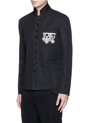 Front View - Click To Enlarge - Alexander McQueen - Medallion embroidery uniform jacket