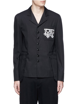 Main View - Click To Enlarge - Alexander McQueen - Medallion embroidery uniform jacket