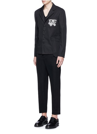 Figure View - Click To Enlarge - Alexander McQueen - Medallion embroidery uniform jacket
