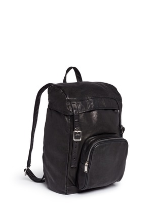 Front View - Click To Enlarge - SAINT LAURENT - 'Hunting' leather backpack