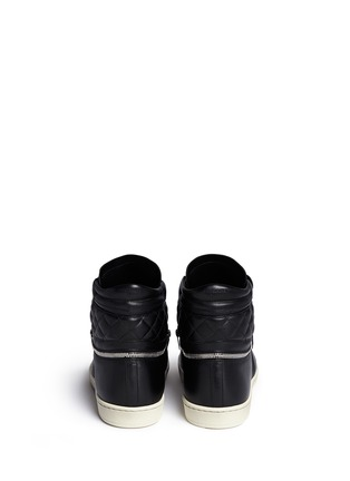 Back View - Click To Enlarge - SAINT LAURENT - 'SL/34' zip ankle leather high top sneakers