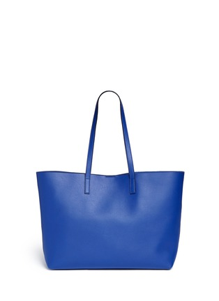 Back View - Click To Enlarge - SAINT LAURENT - Large calfskin leather tote