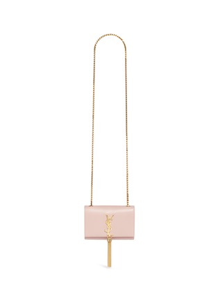 Main View - Click To Enlarge - SAINT LAURENT - 'Monogram' small chain tassel leather bag