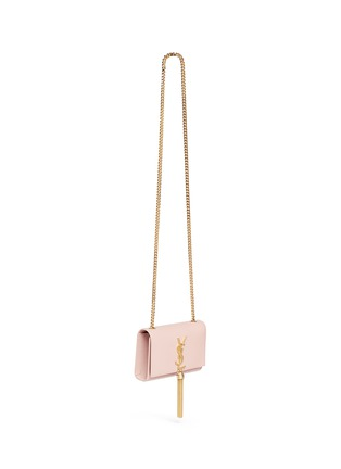 Figure View - Click To Enlarge - SAINT LAURENT - 'Monogram' small chain tassel leather bag