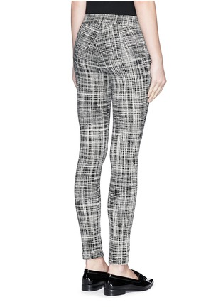 Back View - Click To Enlarge - Theory - 'Adbelle K' grid stretch knit pants