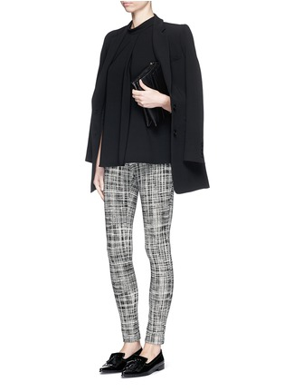 Figure View - Click To Enlarge - Theory - 'Adbelle K' grid stretch knit pants