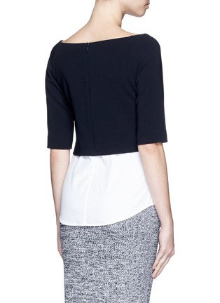 Back View - Click To Enlarge - Theory - 'Burgess' shirttail hem crepe top