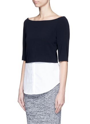 Front View - Click To Enlarge - Theory - 'Burgess' shirttail hem crepe top