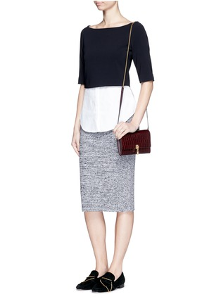 Figure View - Click To Enlarge - Theory - 'Burgess' shirttail hem crepe top