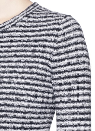 Detail View - Click To Enlarge - Theory - 'Belira' wool stripe mélange knit sweater