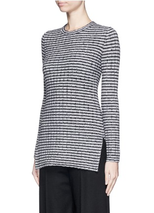 Front View - Click To Enlarge - Theory - 'Belira' wool stripe mélange knit sweater