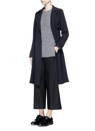 Figure View - Click To Enlarge - Theory - 'Belira' wool stripe mélange knit sweater