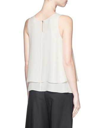 Back View - Click To Enlarge - Theory - 'Kanatra' double layer silk georgette top