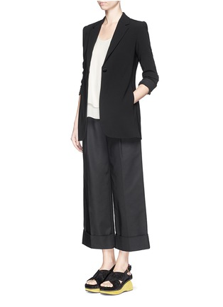 Figure View - Click To Enlarge - Theory - 'Kanatra' double layer silk georgette top