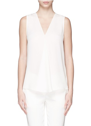 Main View - Click To Enlarge - Theory - 'Meighlan' silk georgette sleeveless top
