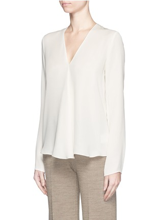 Front View - Click To Enlarge - Theory - 'Meniph' silk georgette long sleeve top