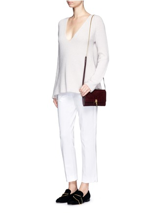 Figure View - Click To Enlarge - Theory - 'Izelle C' cropped twill pants