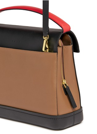 Detail View - Click To Enlarge - Marni - 'Every Day' colourblock leather bag
