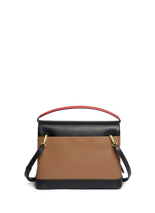 Back View - Click To Enlarge - Marni - 'Every Day' colourblock leather bag