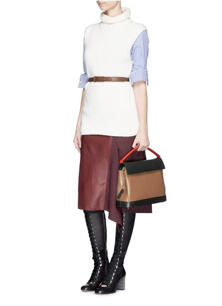 Figure View - Click To Enlarge - Marni - 'Every Day' colourblock leather bag