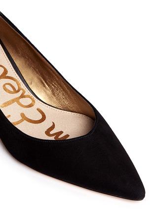 Detail View - Click To Enlarge - Sam Edelman - 'Laura' leather trim suede pumps