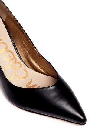 Detail View - Click To Enlarge - Sam Edelman - Orella' suede trim leather pumps