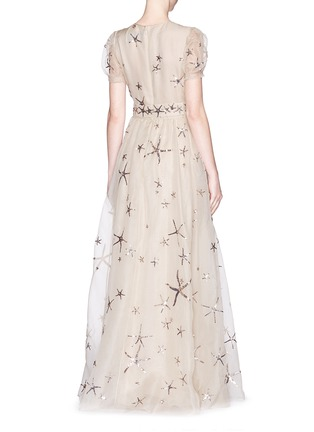 Back View - Click To Enlarge - Valentino - Sequin starfish silk organza gown