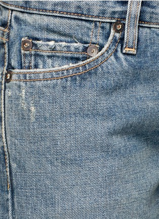 Detail View - Click To Enlarge - SIMON MILLER - 'Aya' frayed cuff washed wide leg jeans