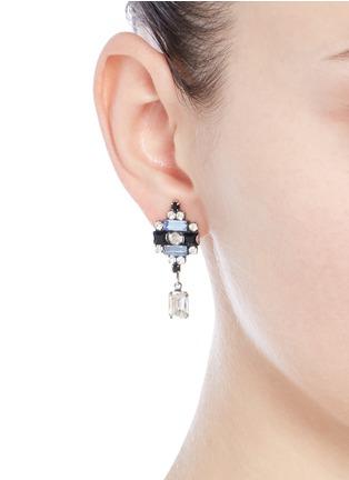 Figure View - Click To Enlarge - Dannijo - 'Aix' Swarovski crystal drop earrings
