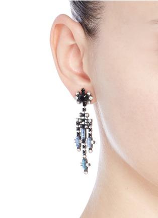 Figure View - Click To Enlarge - Dannijo - 'Adore' Swarovski crystal chandelier drop earrings
