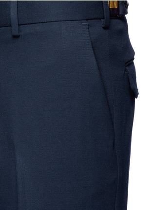 Detail View - Click To Enlarge - Dries Van Noten - 'Philip' rolled cuff wool pants